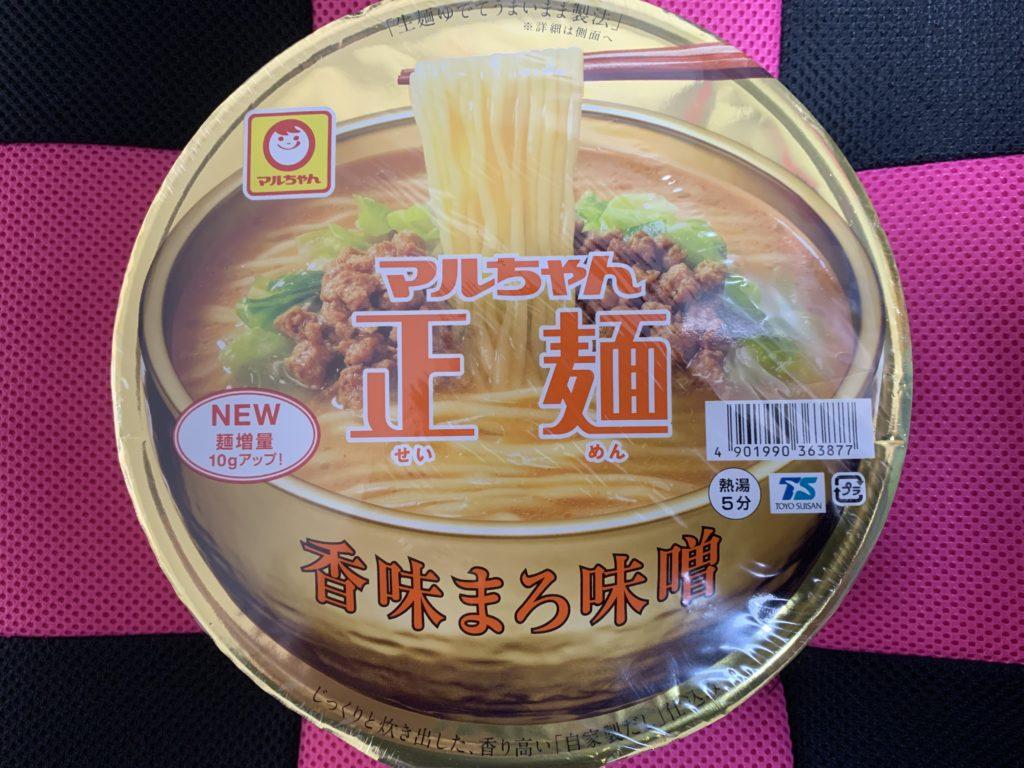 マルちゃん正麺 香味まろ味噌 商品画像 パッケージ