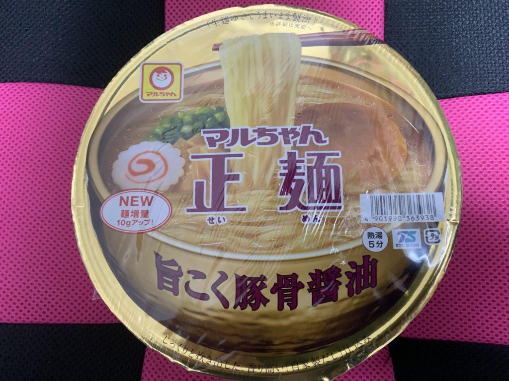 マルちゃん正麺 旨こく豚骨醤油 商品 実物 パッケージ 画像